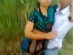 Indian desi college student kissing outdoor mms.MOV